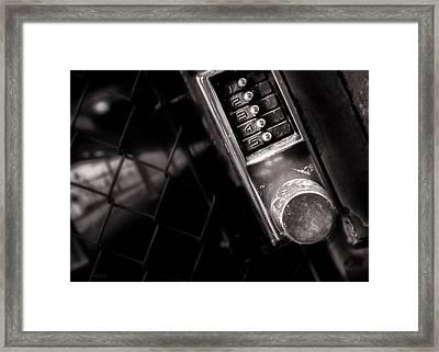 12345 Framed Print by Bob Orsillo