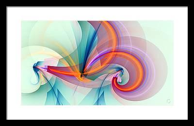 Flame Fractal Framed Prints
