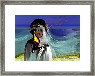 129 - Ocean Walk In Stormy Weather ... Framed Print by Irmgard Schoendorf Welch