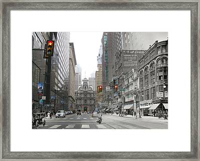 12th And Market Street Framed Print