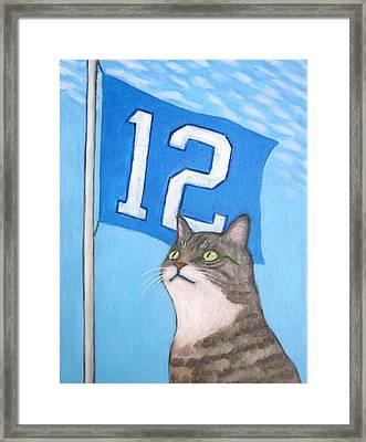 12th Cat #1 Framed Print