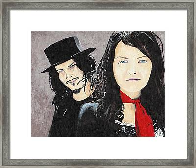 #13-21 White Stripes Framed Print by Dane Tate