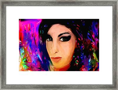 Amy Winehouse Framed Print by Bogdan Floridana Oana