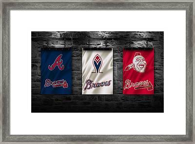 Atlanta Braves Framed Print by Joe Hamilton