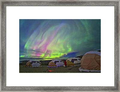 Auroral Display Framed Print by Juan Carlos Casado (starryearth.com)