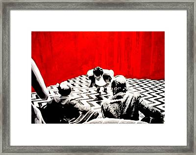 Black Lodge Framed Print