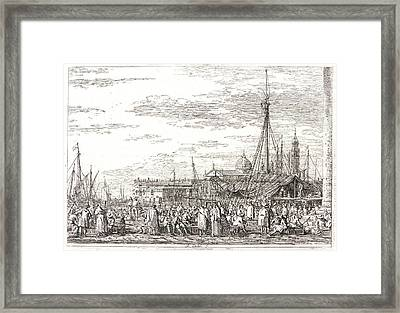 Canaletto Aka Antonio Canale Italian Framed Print by Litz Collection