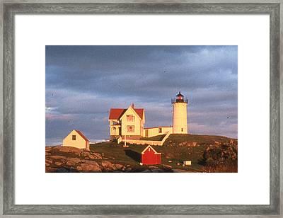 Cape Neddick Light  Framed Print by Herbert Gatewood