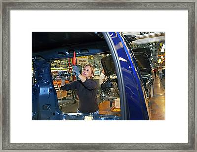 Car Production Assembly Line Framed Print