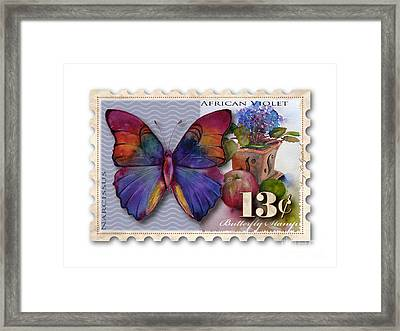 13 Cent Butterfly Stamp Framed Print
