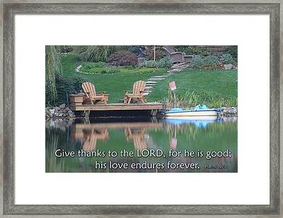Christian Posters With Bible Verses Framed Print by Raja Bandi