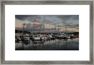 Dingle Marina Framed Print by Barbara Walsh
