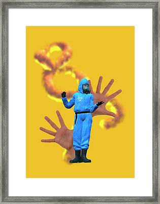 Ebola Epidemic Framed Print by Victor Habbick Visions