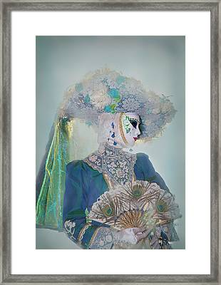 Elaborate Costume For Carnival Venice Framed Print by Darrell Gulin