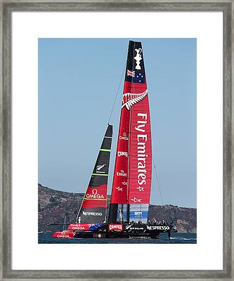 Emirates Team New Zealand Framed Print by Steven Lapkin