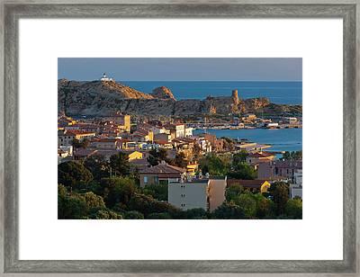 France, Corsica, La Balagne, Ile Framed Print by Walter Bibikow