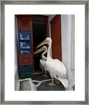 Greece, Mykonos, Hora Framed Print