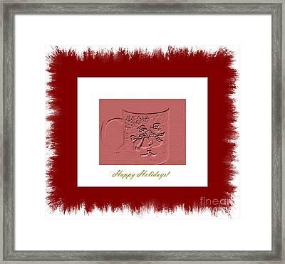 Happy Holidays Framed Print by Oksana Semenchenko