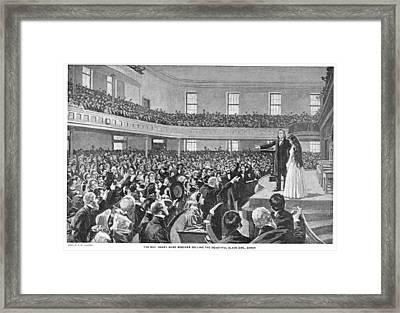 Henry Ward Beecher (1813-1887) Framed Print