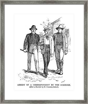 Homestead Strike, 1892 Framed Print