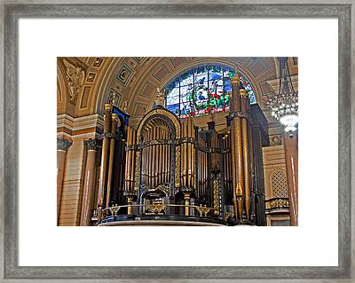Interior Of St Georges Hall Liverpool Uk Framed Print by Ken Biggs