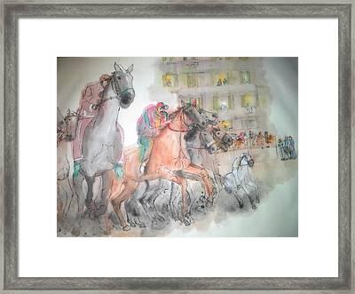 Italian Il Palio Horse Race Album Framed Print