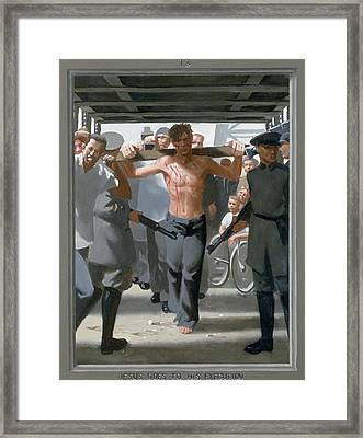 13. Jesus Goes To His Execution / From The Passion Of Christ - A Gay Vision Framed Print by Douglas Blanchard