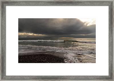Kinard Beach Framed Print by Barbara Walsh
