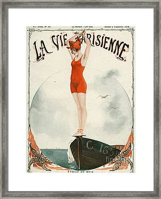 La Vie Parisienne  1919 1910s France Framed Print by The Advertising Archives