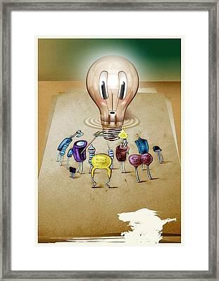 13 Framed Print by Laurentiu Ilina