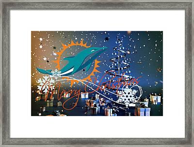 Miami Dolphins Framed Print
