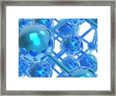 Molecule Framed Print by Alfred Pasieka/science Photo Library