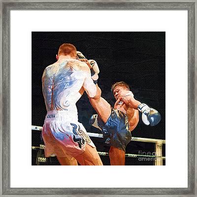 Muay Thai Arts Of Fighting Framed Print by Rames Ratyantarakor