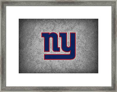 New York Giants Framed Print by Joe Hamilton