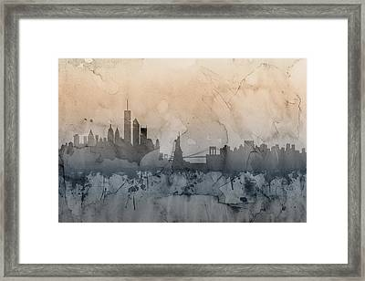 New York Skyline Framed Print