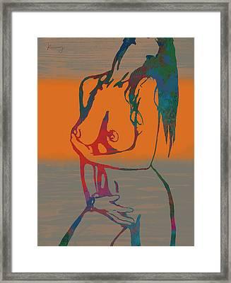 Nude Pop Stylised Art Poster Framed Print