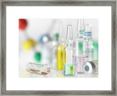 Pharmaceutical Research Framed Print by Tek Image