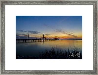 Peacefull Hues Of Orange And Yellow  Framed Print by Dale Powell