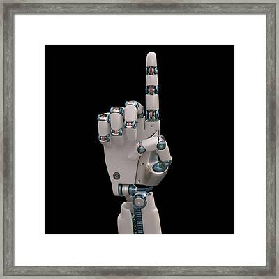 Robotic Hand Framed Print