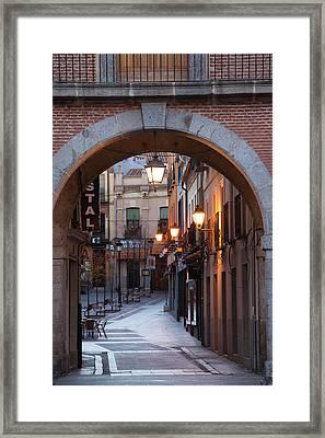 Spain, Castilla Y Leon Region, Avila Framed Print