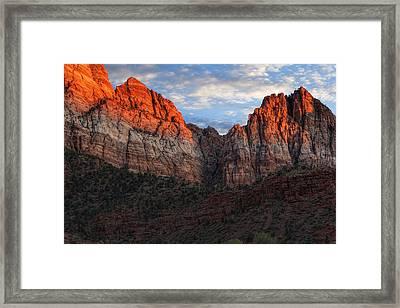 Zion National Park Framed Print by Utah Images
