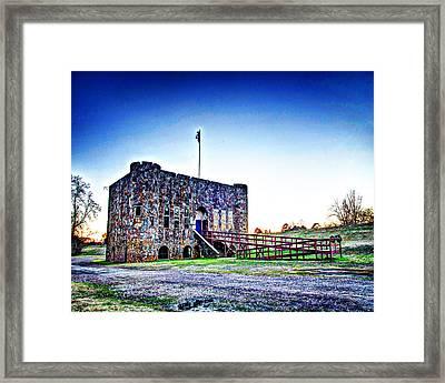 1302-4062 - American Legion Hut In Clarksville Ar Framed Print by Randy Forrester