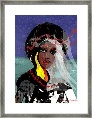 131 - Walk In Stormy Weather Framed Print by Irmgard Schoendorf Welch