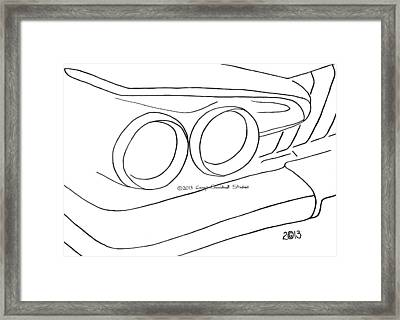 132-ls 'savoy Sky' Framed Print by Gregory Otvos