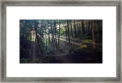 Old Man's Cave Framed Print by Brian Stevens