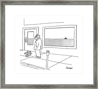 New Yorker May 4th, 2009 Framed Print by Jack Ziegler