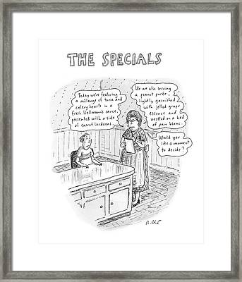 The Specials Framed Print by Roz Chast