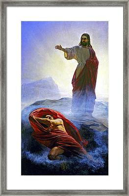Carl Bloch Framed Print by MotionAge Designs