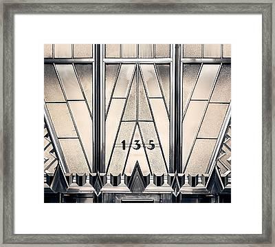 135 E 42nd - Chrysler Building Framed Print