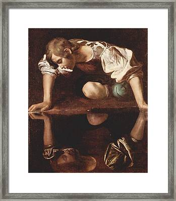 Healing Of The Blind Man By Jesus Christ Framed Print by MotionAge Designs